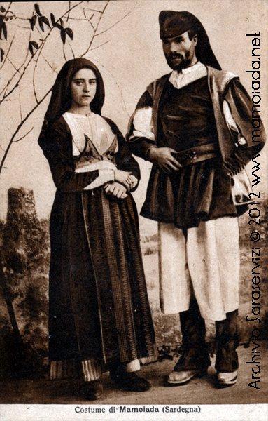 Costumi di Mamoiada cartolina viaggiata nel 1923
