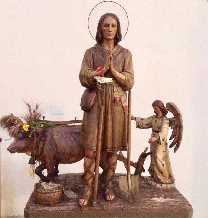 La statua di Santu Sidore a Mamoiada